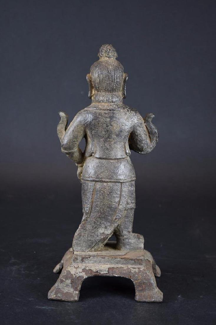 Chinese Cast Iron Standing Buddha - 3