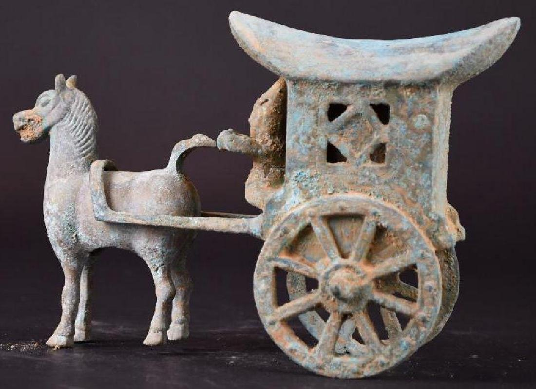 Chinese Bronze Horse & Carriage - 3