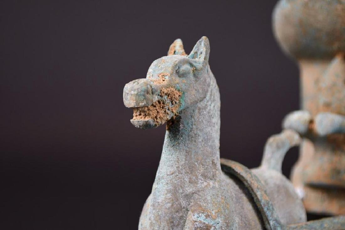 Chinese Bronze Horse & Carriage - 5