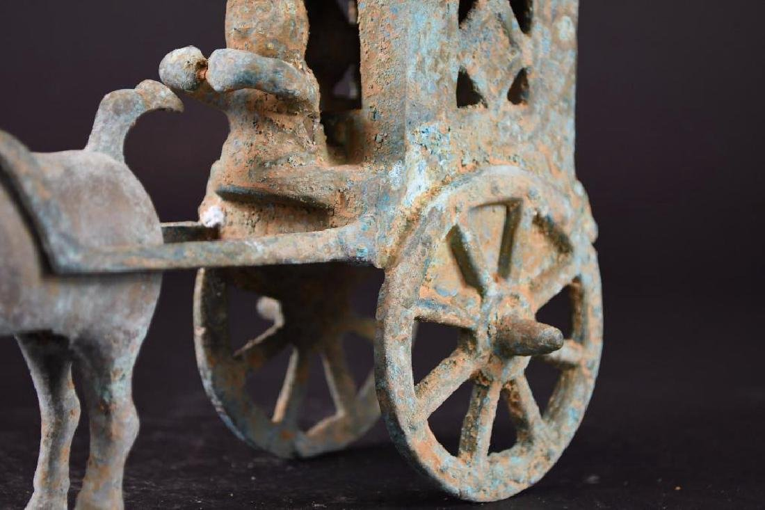 Chinese Bronze Horse & Carriage - 7