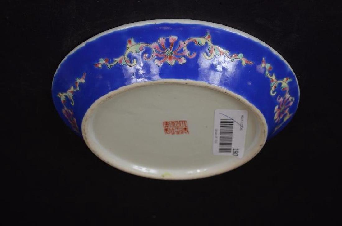 Antique Chinese Cobalt Blue Glaze Porcelain Bowl