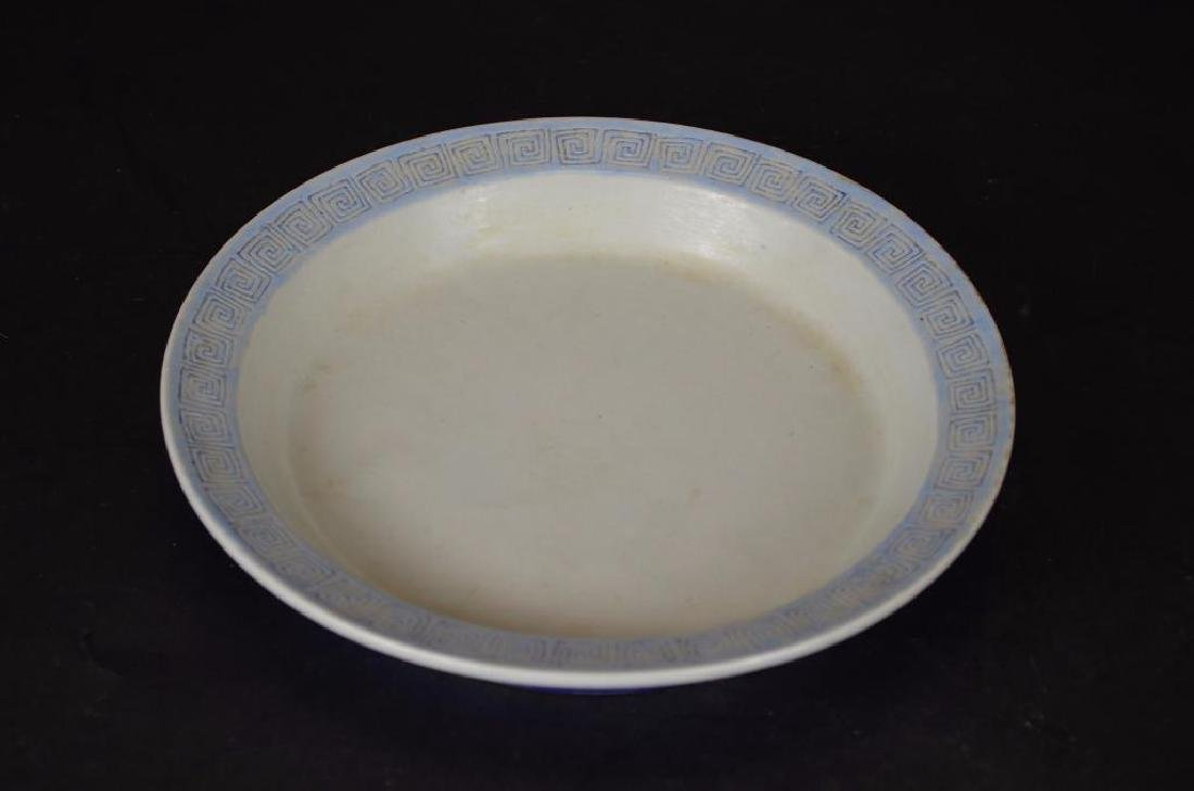 Antique Chinese Cobalt Blue Glaze Porcelain Bowl - 2