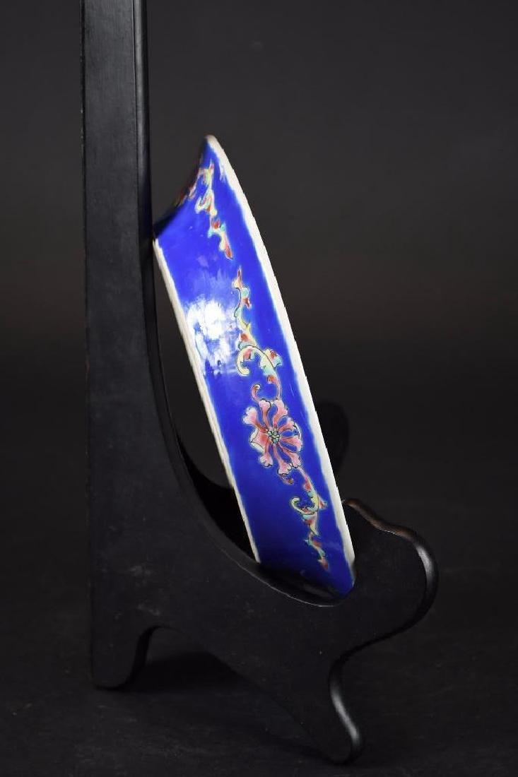 Antique Chinese Cobalt Blue Glaze Porcelain Bowl - 5
