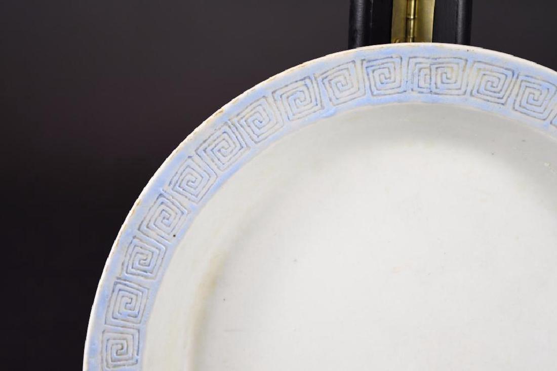 Antique Chinese Cobalt Blue Glaze Porcelain Bowl - 7