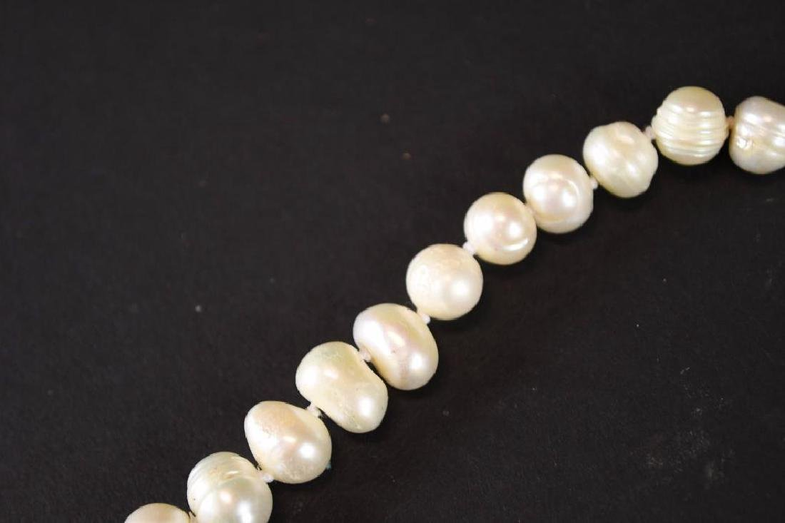 Two Strands of White Pearl Necklaces - 2
