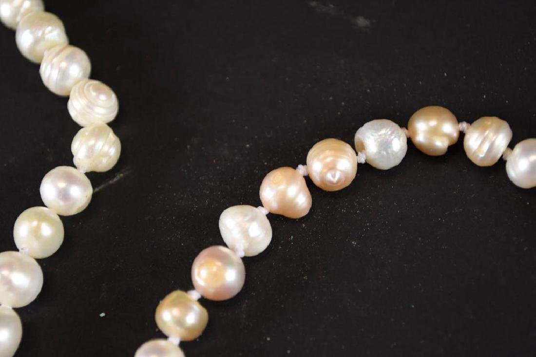 Two Strands of White Pearl Necklaces - 4