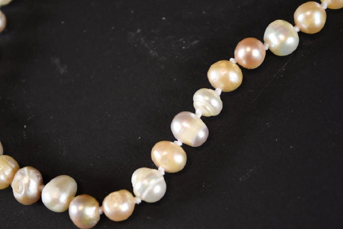 Two Strands of White Pearl Necklaces - 6