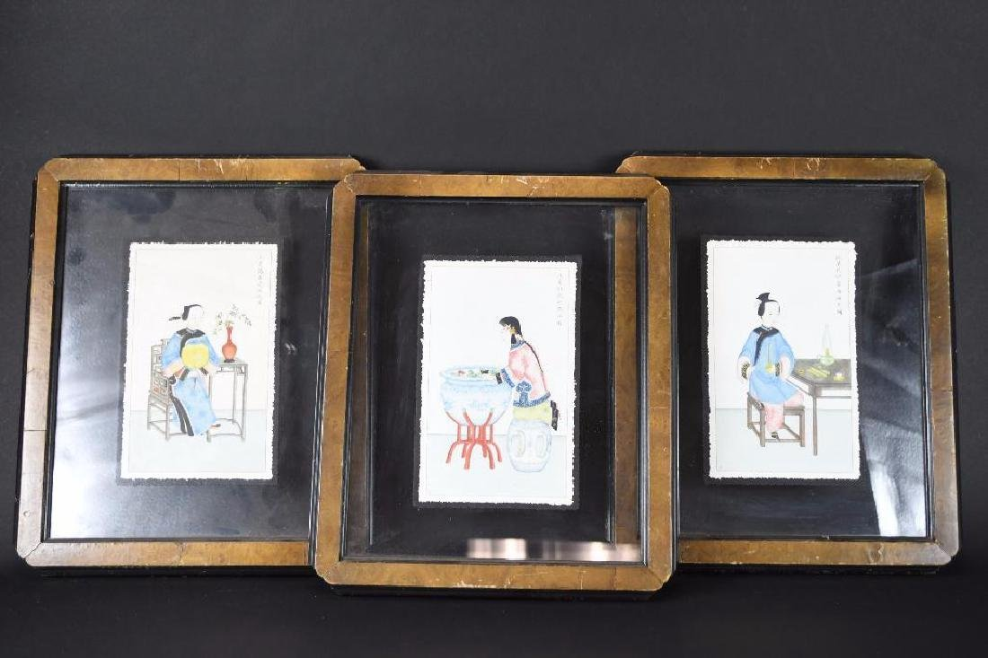 Three Framed Chinese Pictures