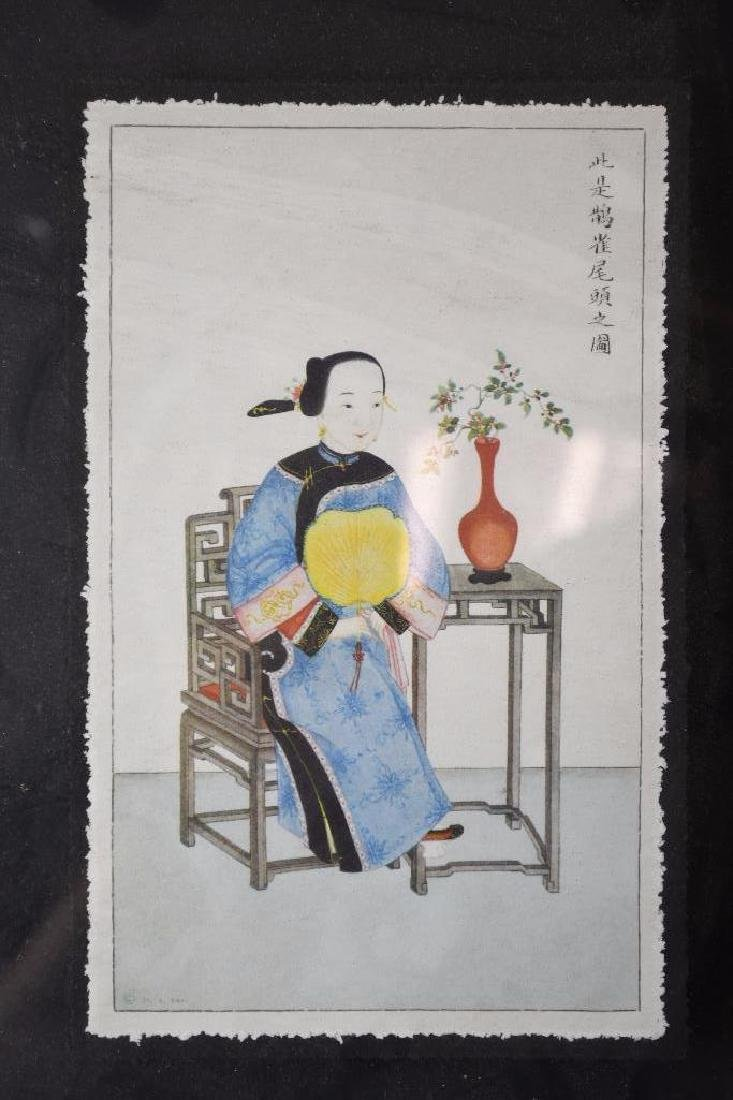 Three Framed Chinese Pictures - 2