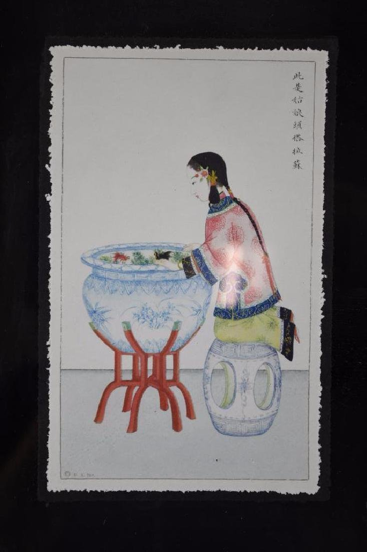 Three Framed Chinese Pictures - 3