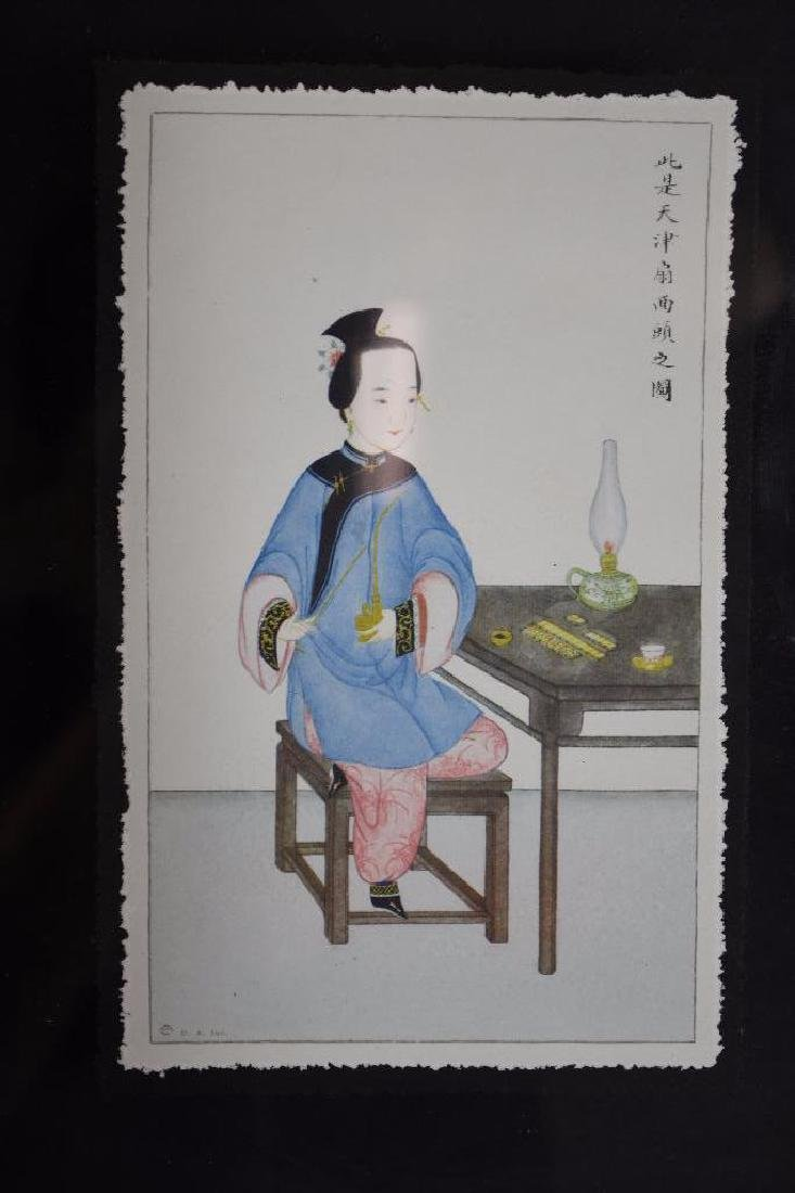 Three Framed Chinese Pictures - 4