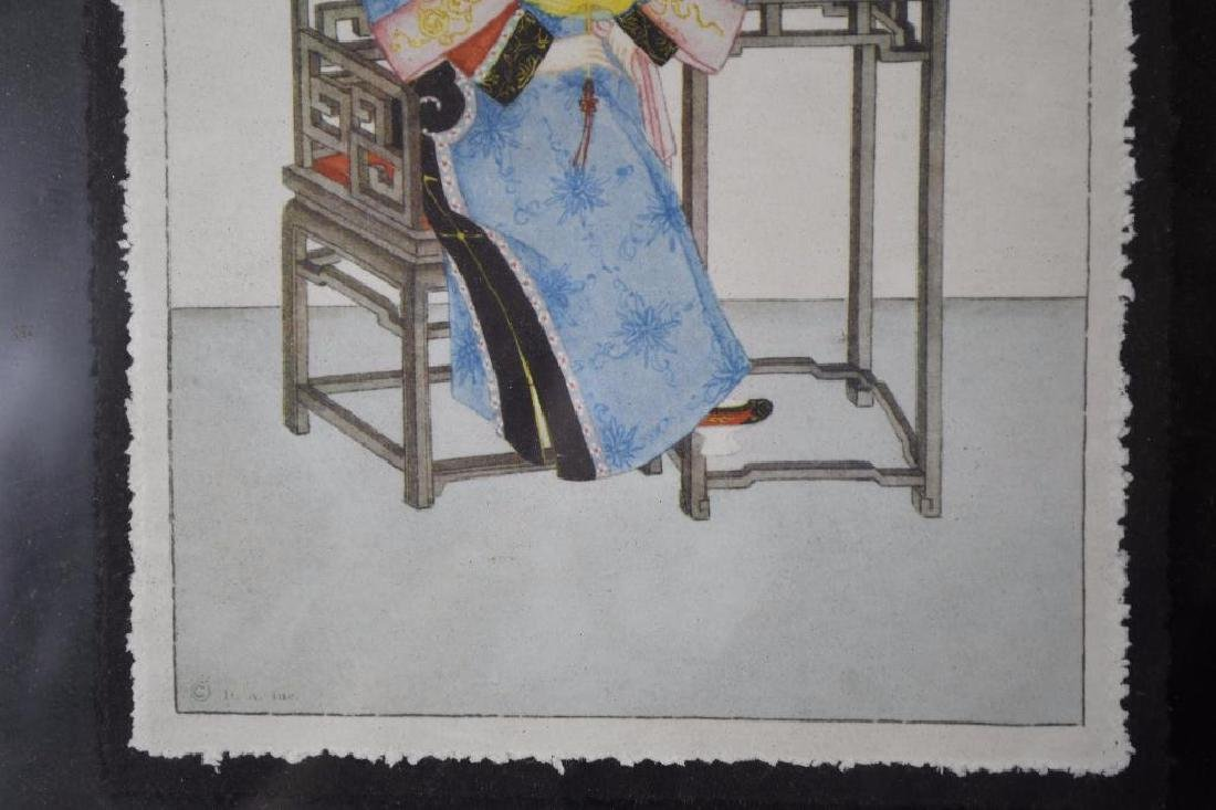 Three Framed Chinese Pictures - 6