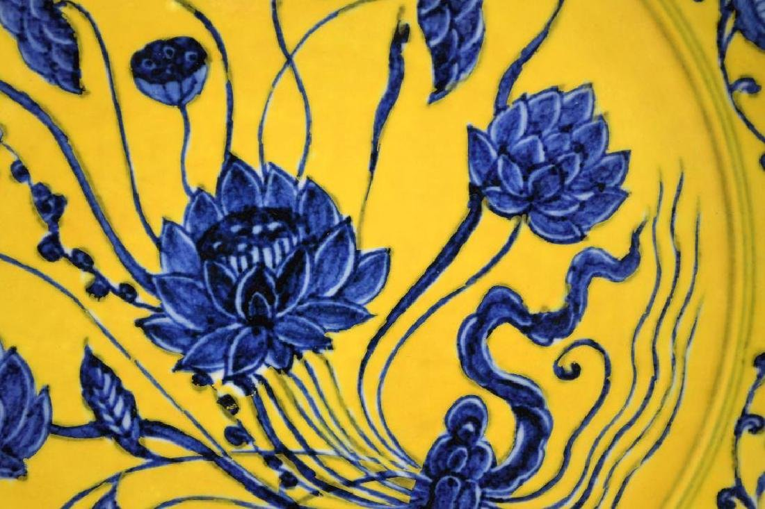 Chinese Yellow Ground  & Blue Charger - 6