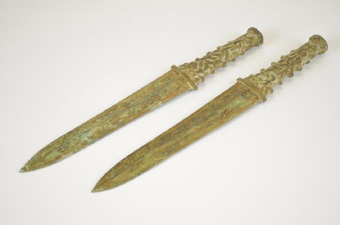 Two Bronze Archaic Style Daggers - 2