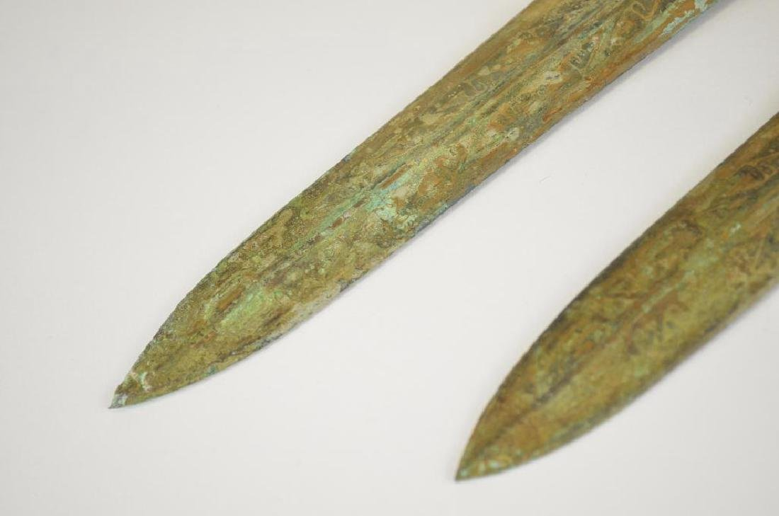 Two Bronze Archaic Style Daggers - 5