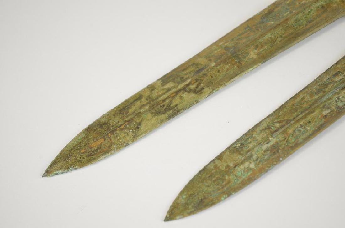 Two Bronze Archaic Style Daggers - 8