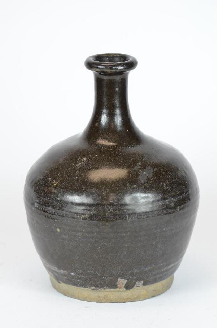 Chinese Black Glaze Vase - 2