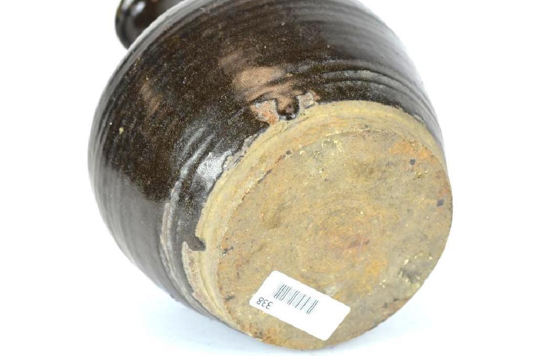 Chinese Black Glaze Vase - 4