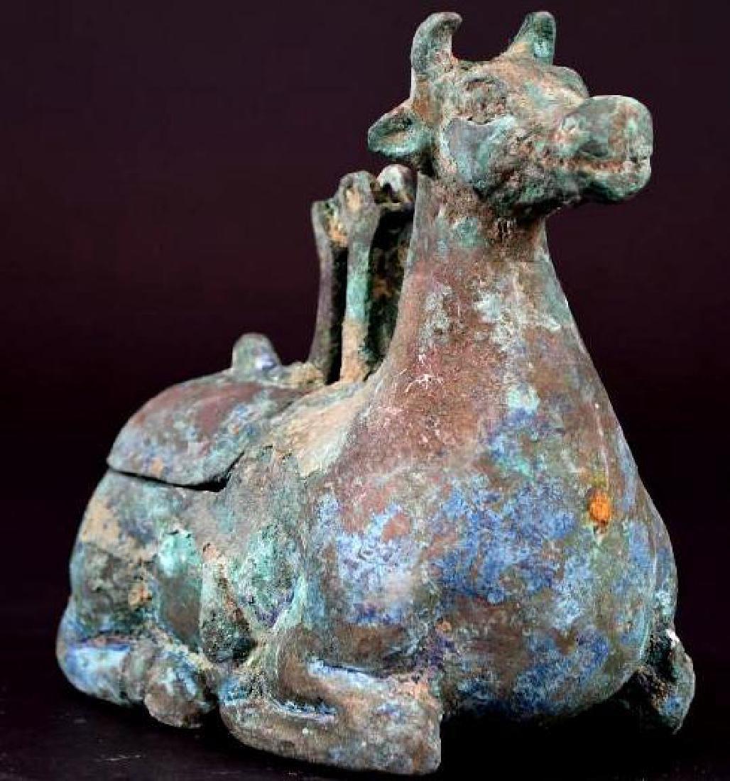 Chinese Animal Shape Bronze Vessel