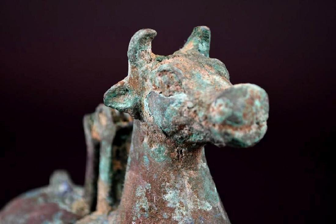 Chinese Animal Shape Bronze Vessel - 5