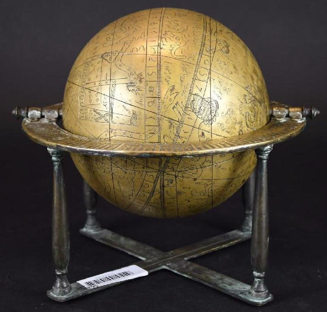 Astrolobe Globe on Stand with Inscription