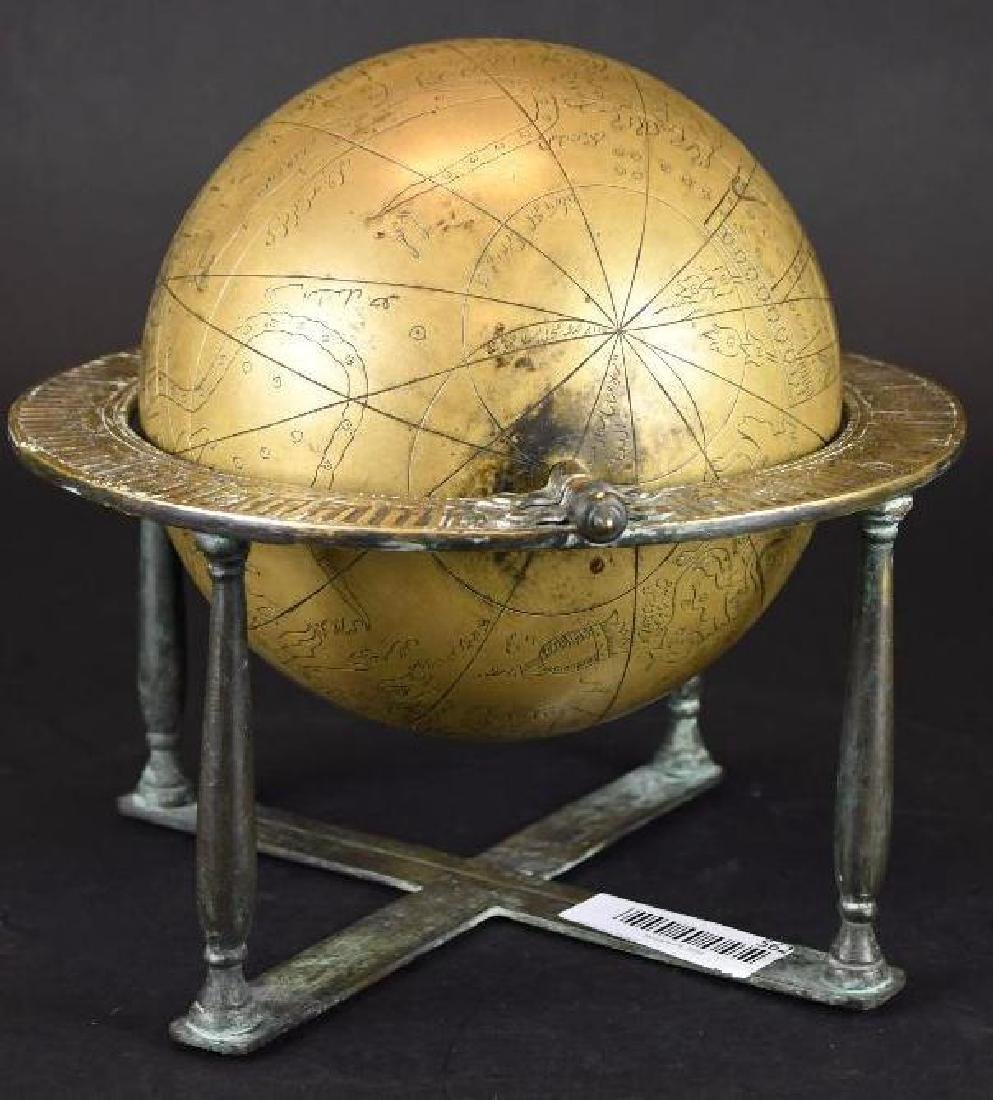 Astrolobe Globe on Stand with Inscription - 2