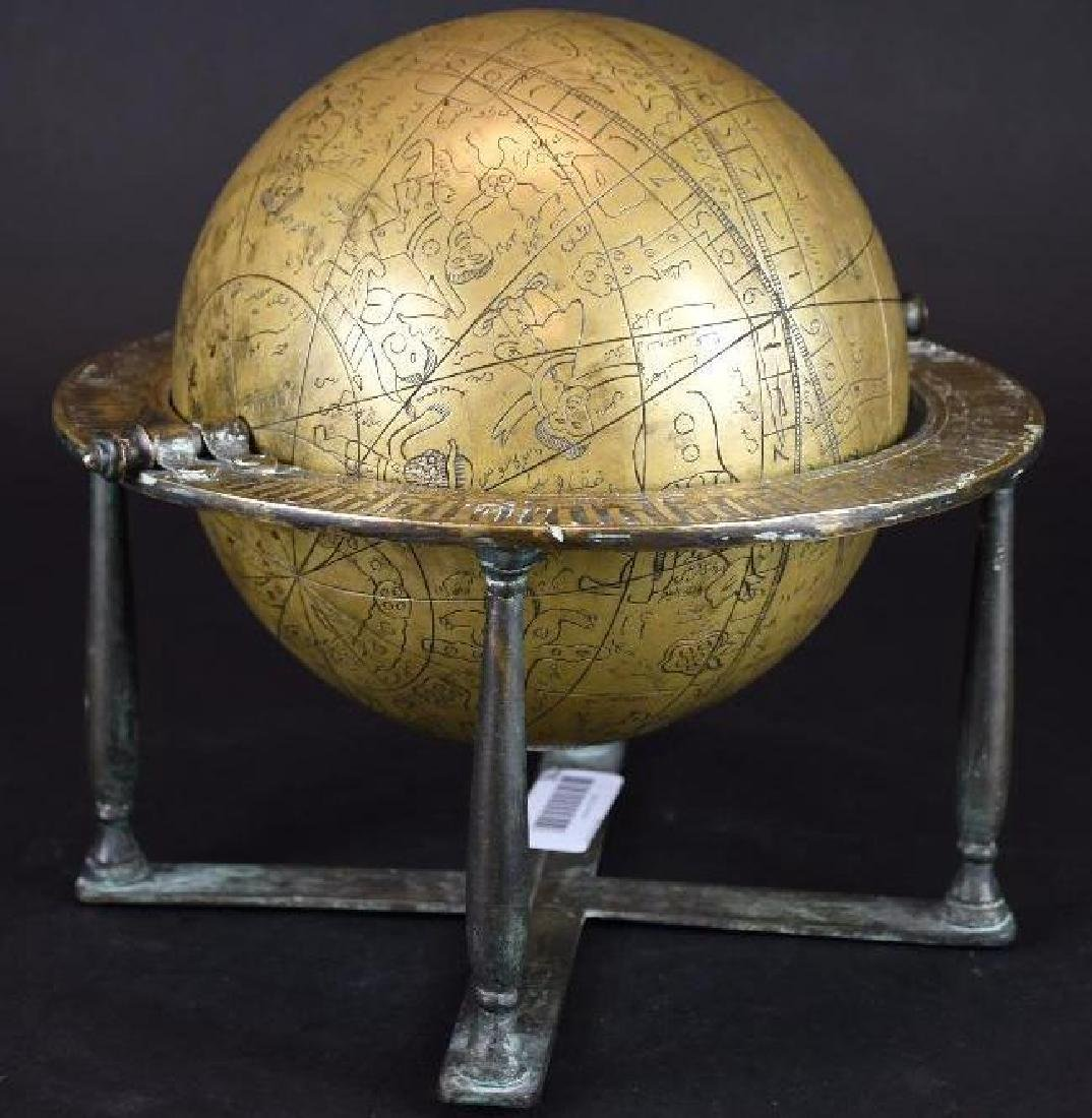 Astrolobe Globe on Stand with Inscription - 4