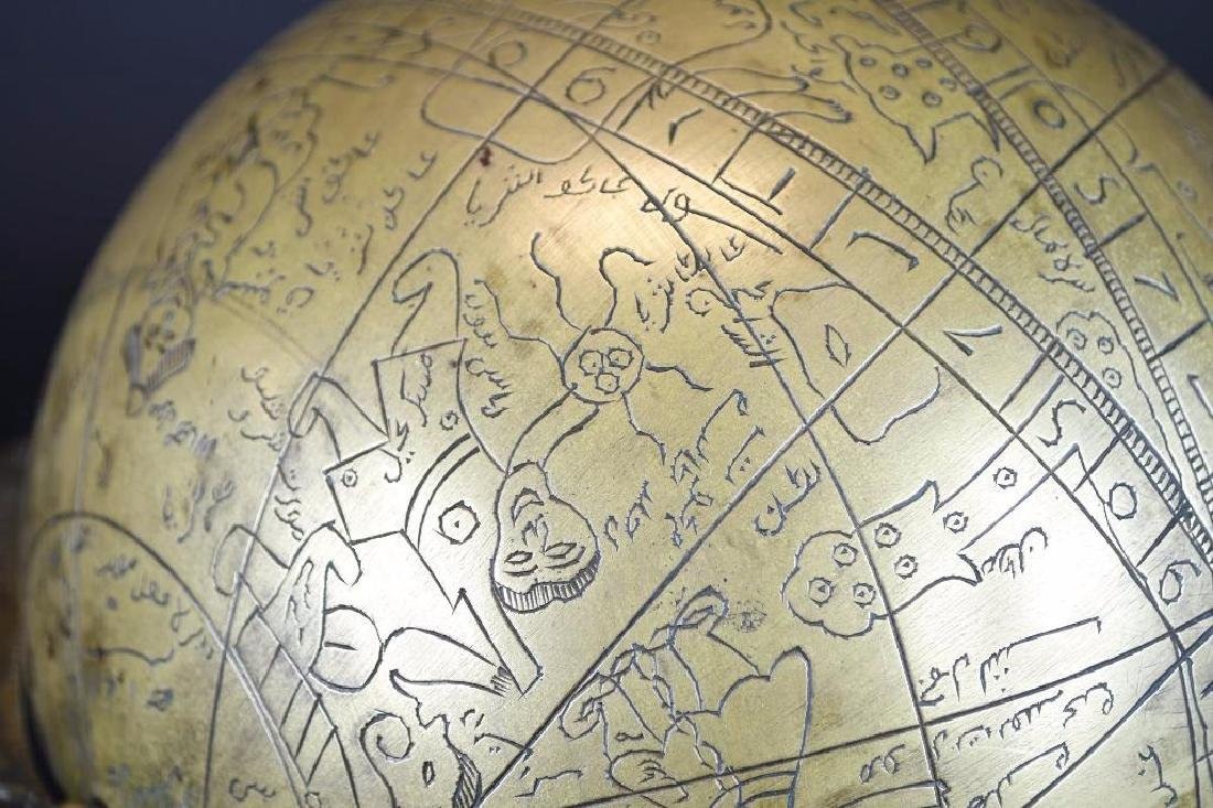 Astrolobe Globe on Stand with Inscription - 5
