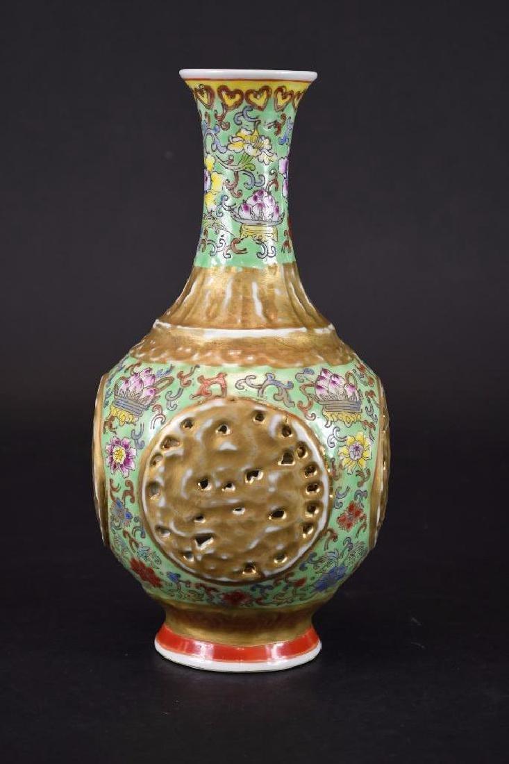 Chinese Famille Verte Porcelain Vase