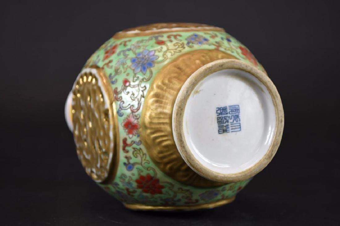 Chinese Famille Verte Porcelain Vase - 6