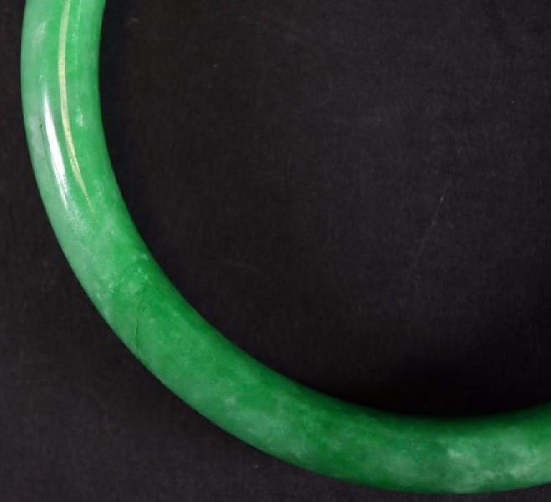 Chinese Apple Green Jadeite Bangle - 5