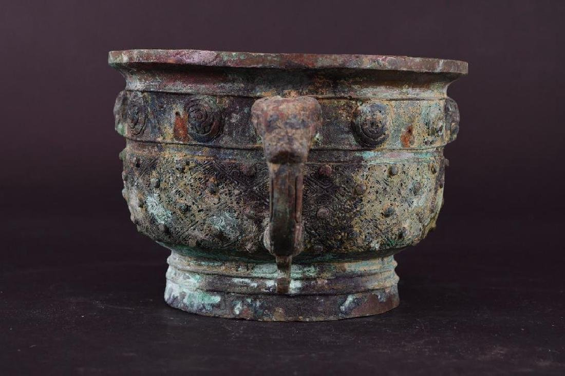 Chinese Bronze Footed Censer - 2
