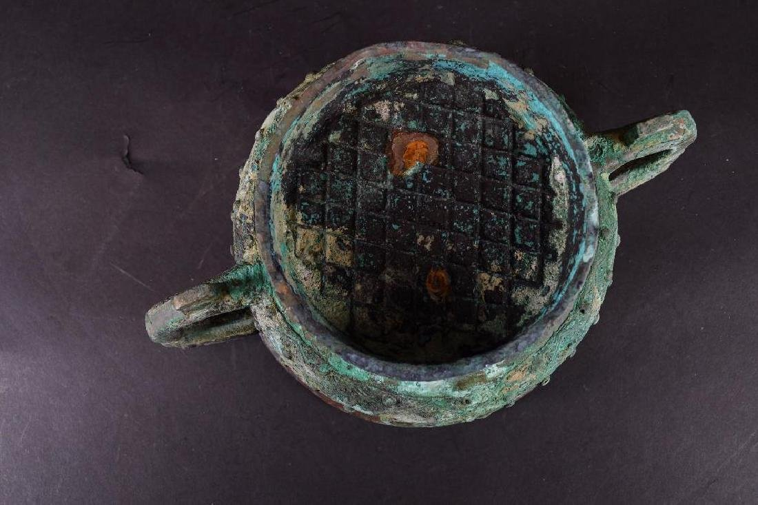 Chinese Bronze Footed Censer - 6