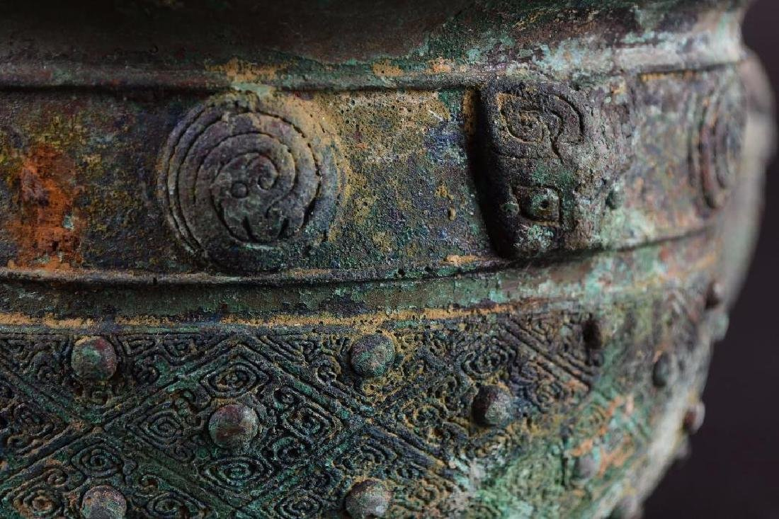 Chinese Bronze Footed Censer - 8