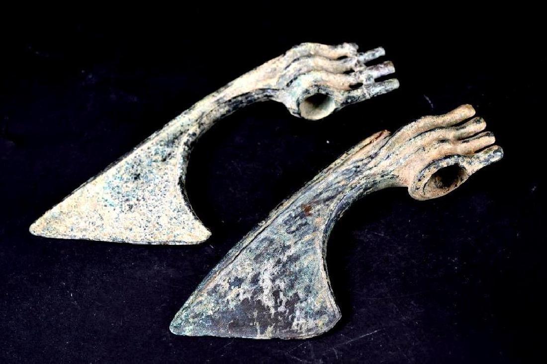 Ancient Luristan Bronze Ax Heads