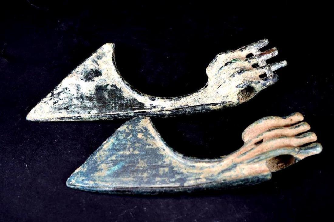 Ancient Luristan Bronze Ax Heads - 2