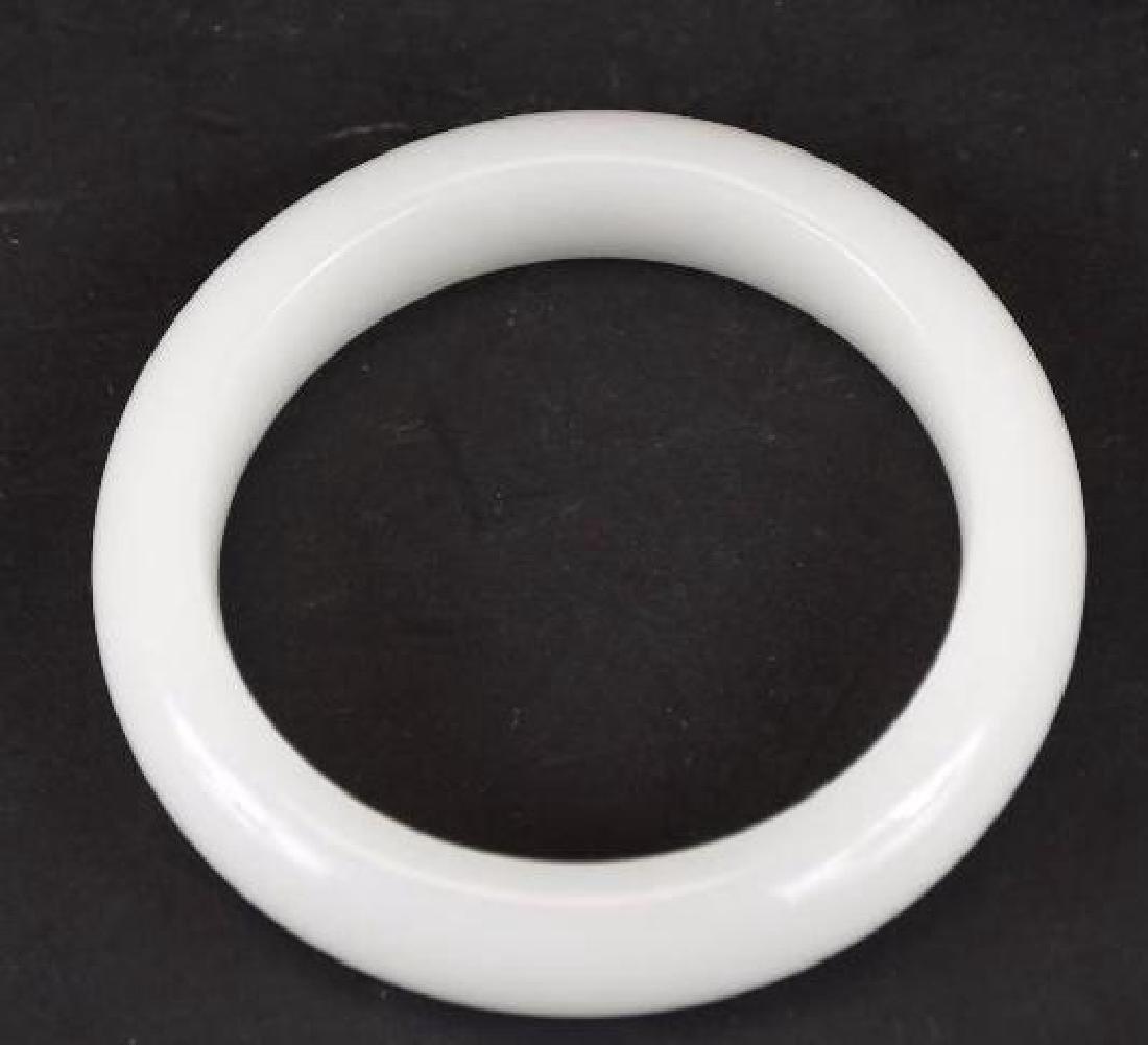 Chinese White Jade Bangle