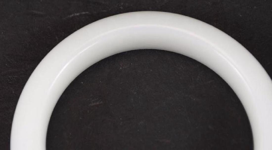 Chinese White Jade Bangle - 2