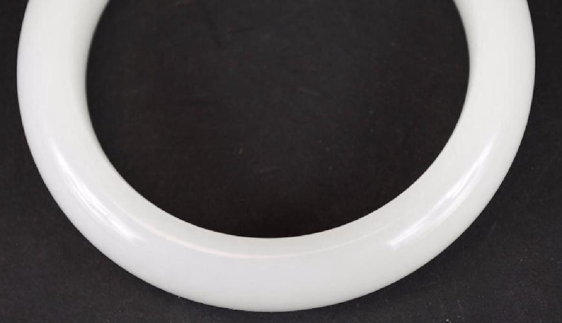 Chinese White Jade Bangle - 3