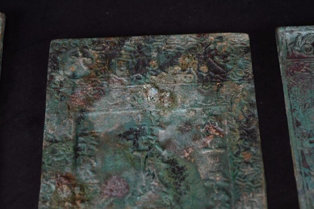 Lot of Three Chinese Bronze Plaques - 4