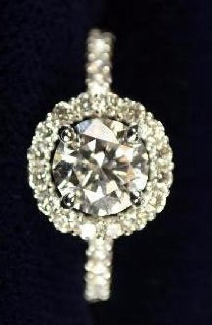 Ladies Gold Ring 1.0 CT FLAWLESS Color D Diamond GIA