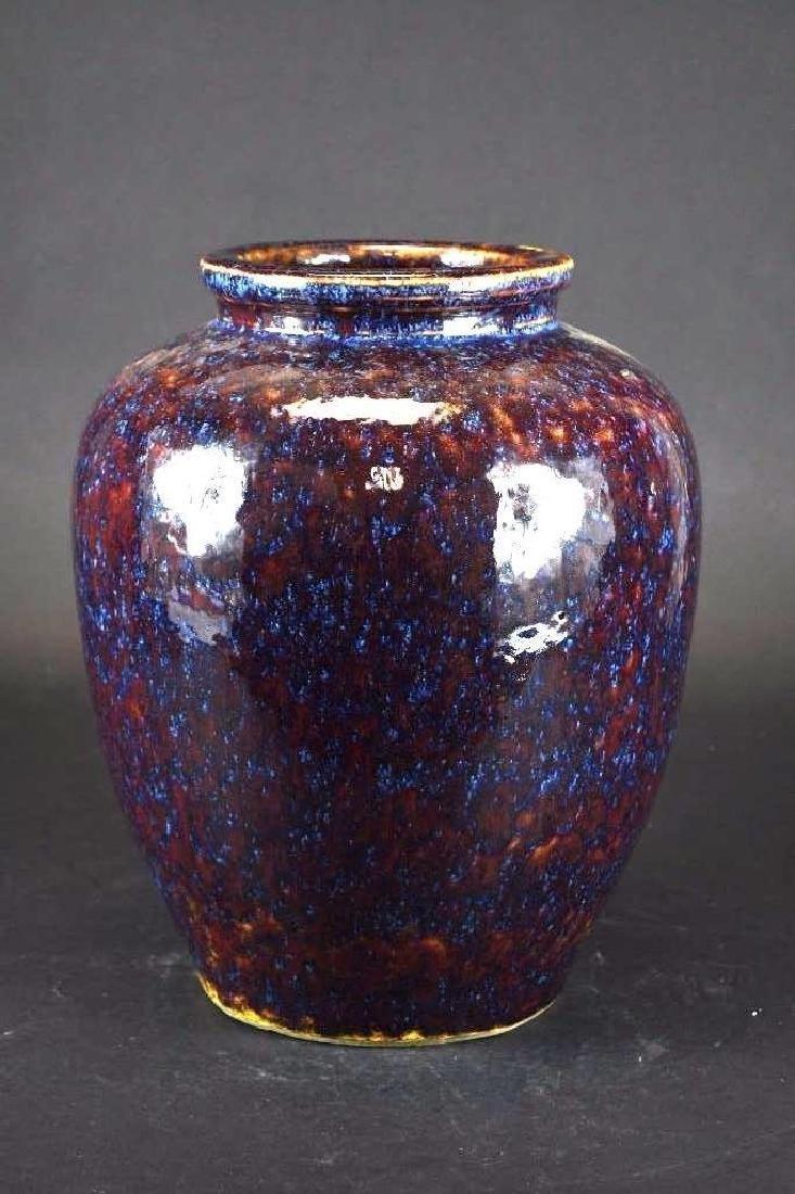 Chinese Flambe Glaze Porcelain Vase - 3