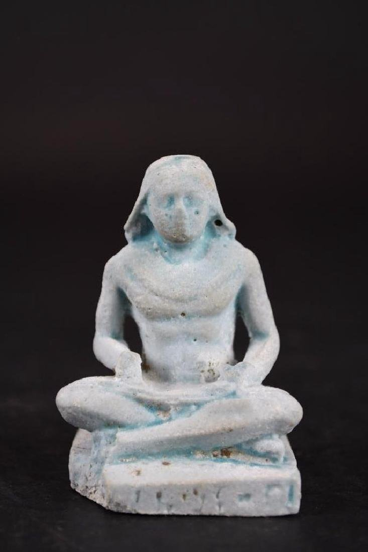 Ancient Egyptian Faience Statue