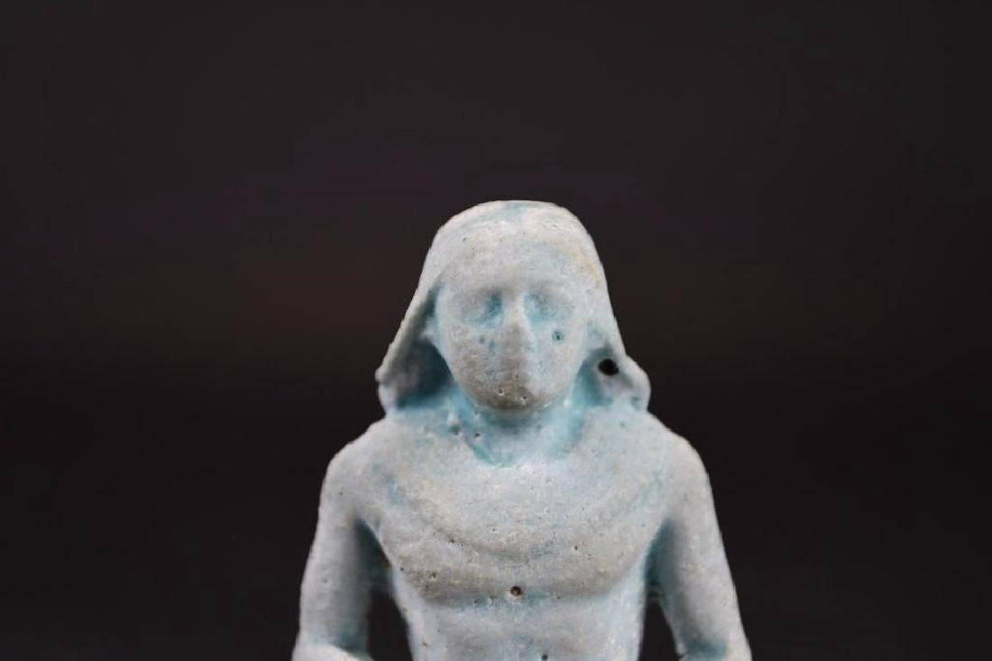Ancient Egyptian Faience Statue - 5