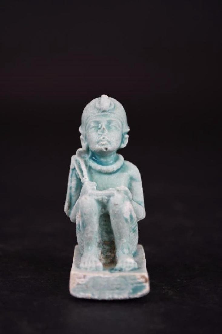 Ancient Egyptian Faience Statue - 8