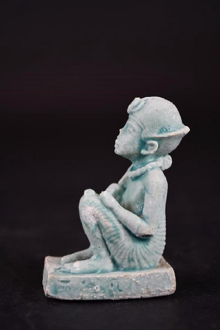 Ancient Egyptian Faience Statue - 9