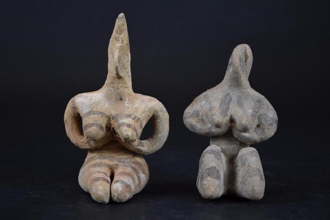 Two Ancient terracotta  Statue of a Deity