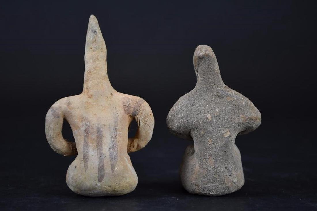 Two Ancient terracotta  Statue of a Deity - 3