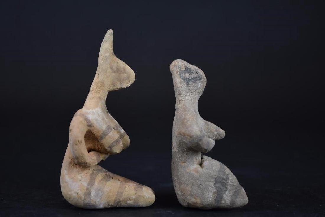 Two Ancient terracotta  Statue of a Deity - 4