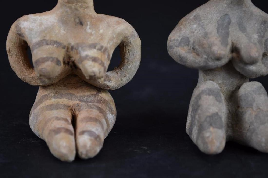 Two Ancient terracotta  Statue of a Deity - 7